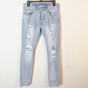 H&M &Denim 4 Fly Button High Waisted Skinny Jeans